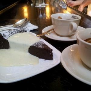 Espresso mit Schokoladen