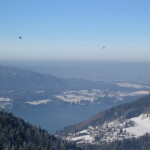 Heißluftballons über dem Tegernsee